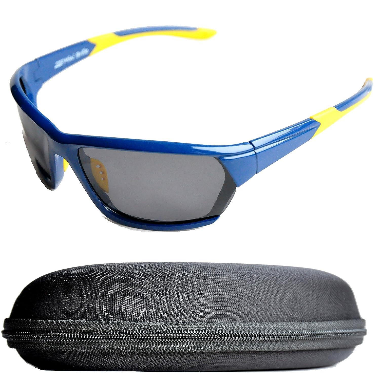Lunettes de Soleil Polarisées pour le Sport pour Hommes, Femmes avec Étui Rigide pour le Cyclisme, le Jogging, le Pêche, le Escalade, le Golf, le Ski, l'Alpinisme, le Randonnée et autres Activité Spor