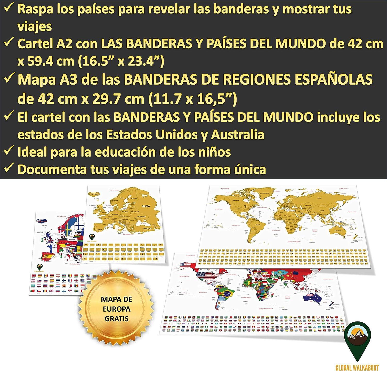 Global Walkabout ESPAÑOL - Mapa del rasguño mundial y mapa de ...