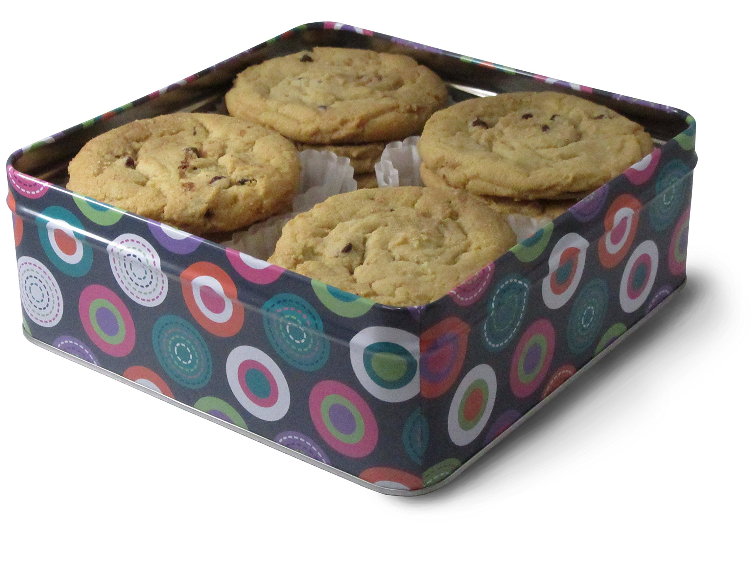 Fresh Baked Chocolate Chip Cookie Tins, Comes in Multiple Sizes | Gimmee Jimmy's Authentic Cookies (1 Pound) by Gimmee Jimmy's Cookies (Image #2)