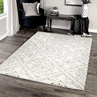 "product image for Orian Rugs Angora Buttery-Soft Camille Area Rug, 5'3"" x 7'6"", White"