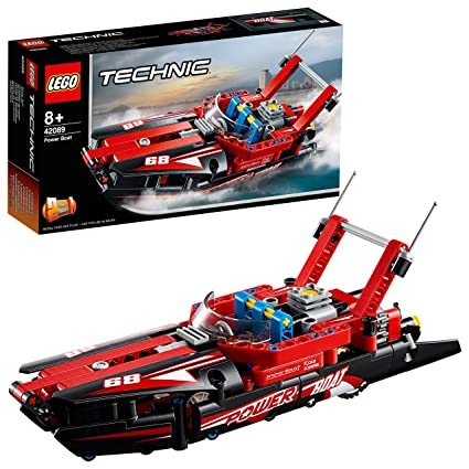 LEGO Technic - Lancha de Competición, maqueta divertida de barco de juguete 2 en 1 para construir (42089)