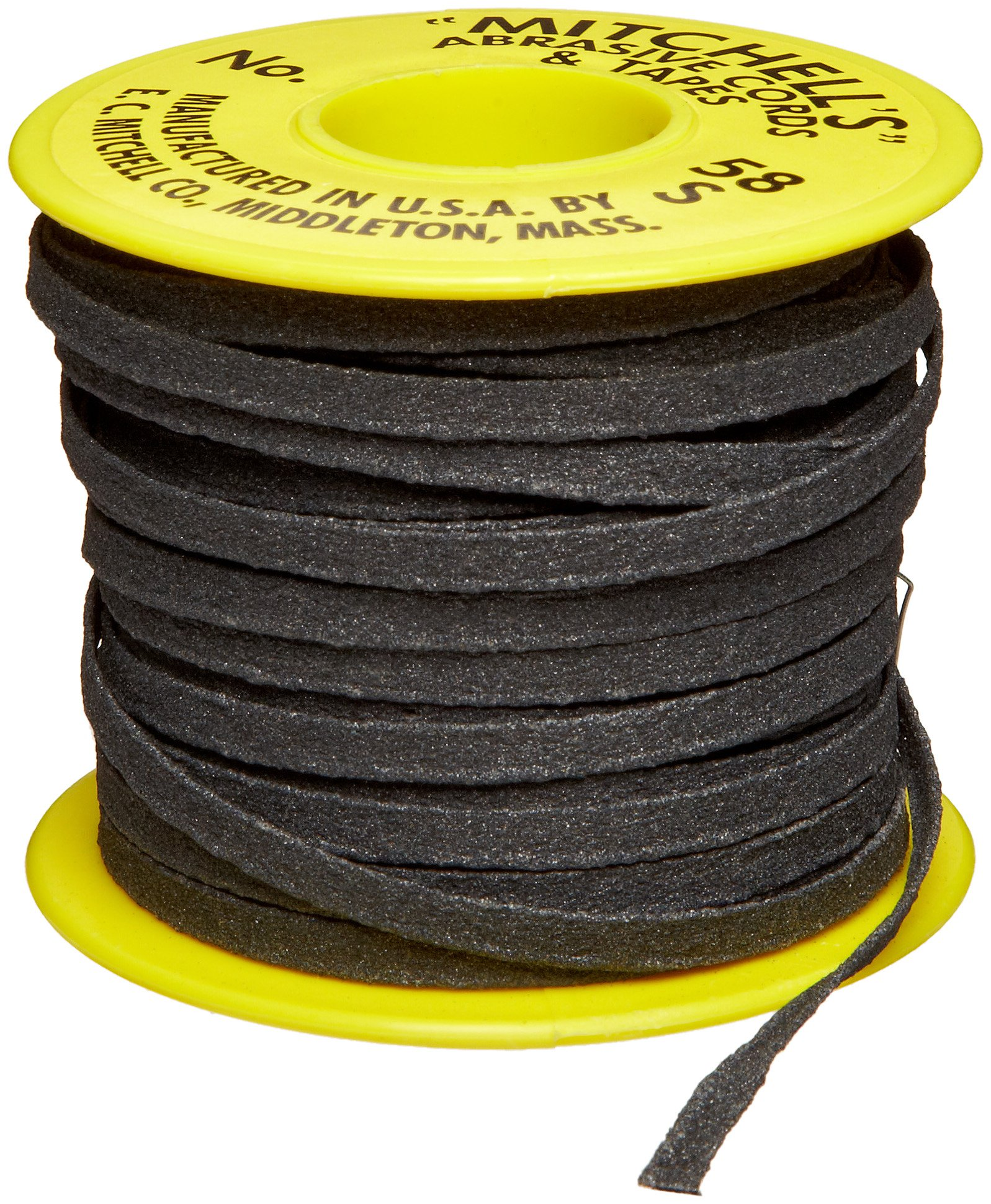 Mitchell Abrasives 58-S Flat Abrasive Tape, Silicon Carbide 150 Grit 3/16'' Wide x 50 Feet
