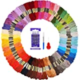 Fuyit Embroidery Floss 48 Colors 144 Skeins Cross Stitch Threads for Friendship Bracelets Floss Crafts Floss with Free Needle Threader Untwist Tool (48 Color)