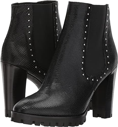 a6a28f1bf1 The Kooples Women's Reptile-Effect Leather Boots with Studs Black 35 ...