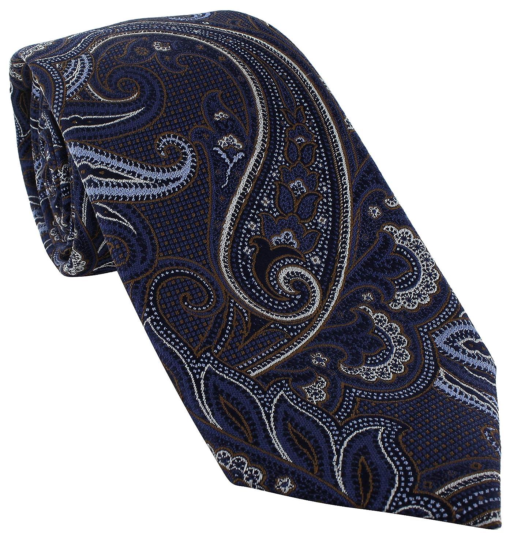 Michelsons of London Extravagant Paisley - Corbata de seda Marrón ...