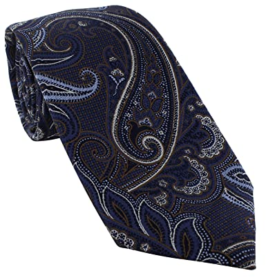 Michelsons of London Extravagant Paisley - Corbata de seda Marrón ...
