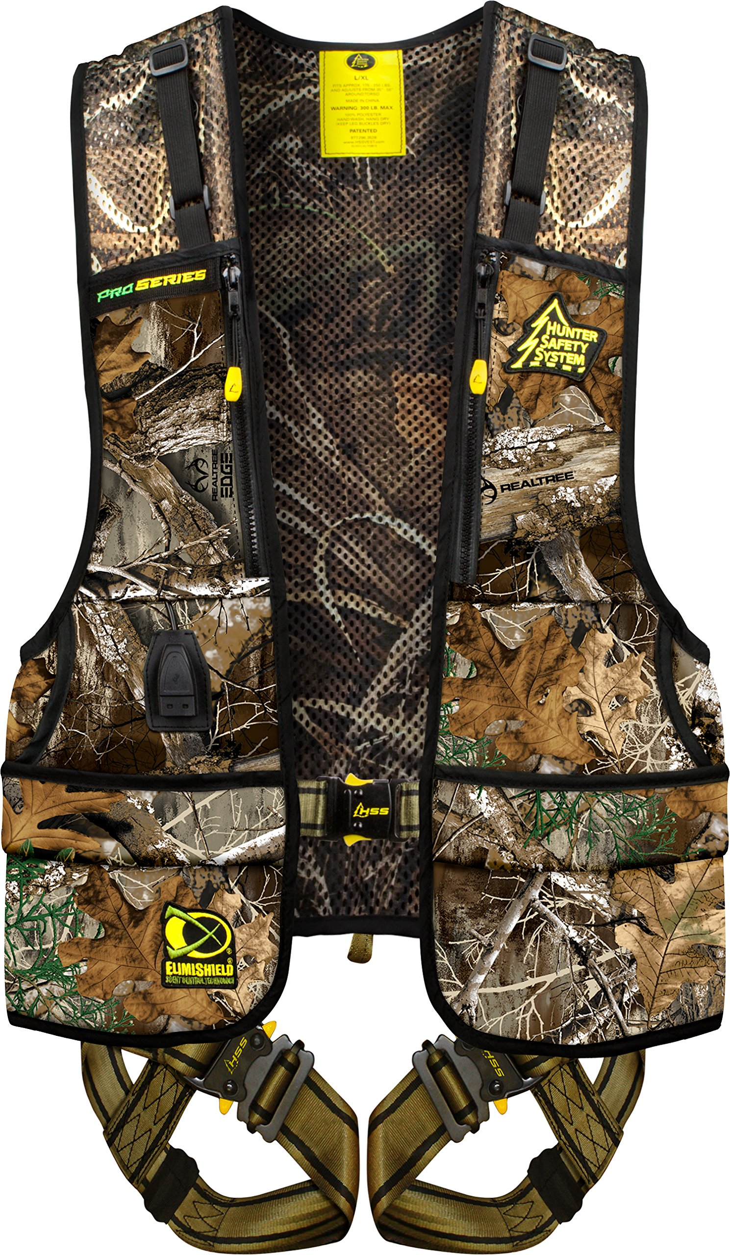 Hunter Safety System Pro-Series Harness with Elimishield Scent Control Technology, Large/X-Large by Hunter Safety System