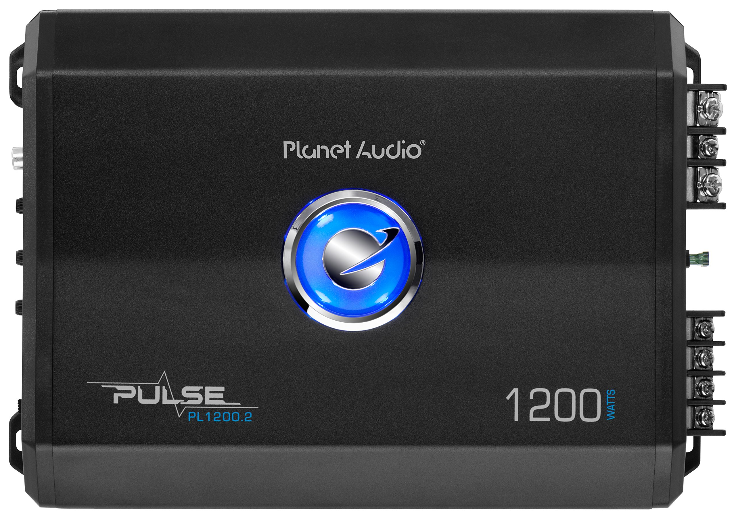 Planet Audio PL1200.2 Pulse 1200 Watt, 2 Channel, 2 to 8 Ohm Stable Class A/B, Full Range, Bridgeable, MOSFET Car Amplifier with Remote Subwoofer Control