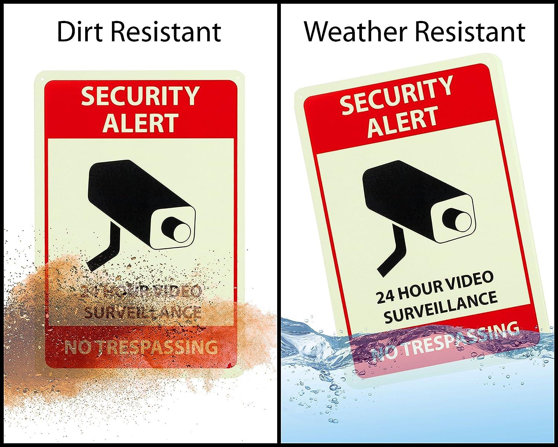 Aluminum Sign, 10x14, CCTV Wasserstein 24 Hour Video Surveillance Sign and Sticker by