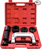 RamPro Ball Joint Press Service Repair Kit, Removal Tool Set, 2/4 Wheel Drive Vehicle Remover Installer Adapters – Also Used to Remove/Install Brake Anchor Pins and U-Joints (10 Pcs)