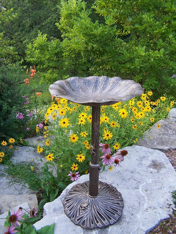 Antique Bronze Oakland Living Meadow Bird Bath