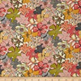 Liberty Fabrics Classic Tana Lawn Wild Flowers Mauvey Fabric by The Yard, Cream/Pink