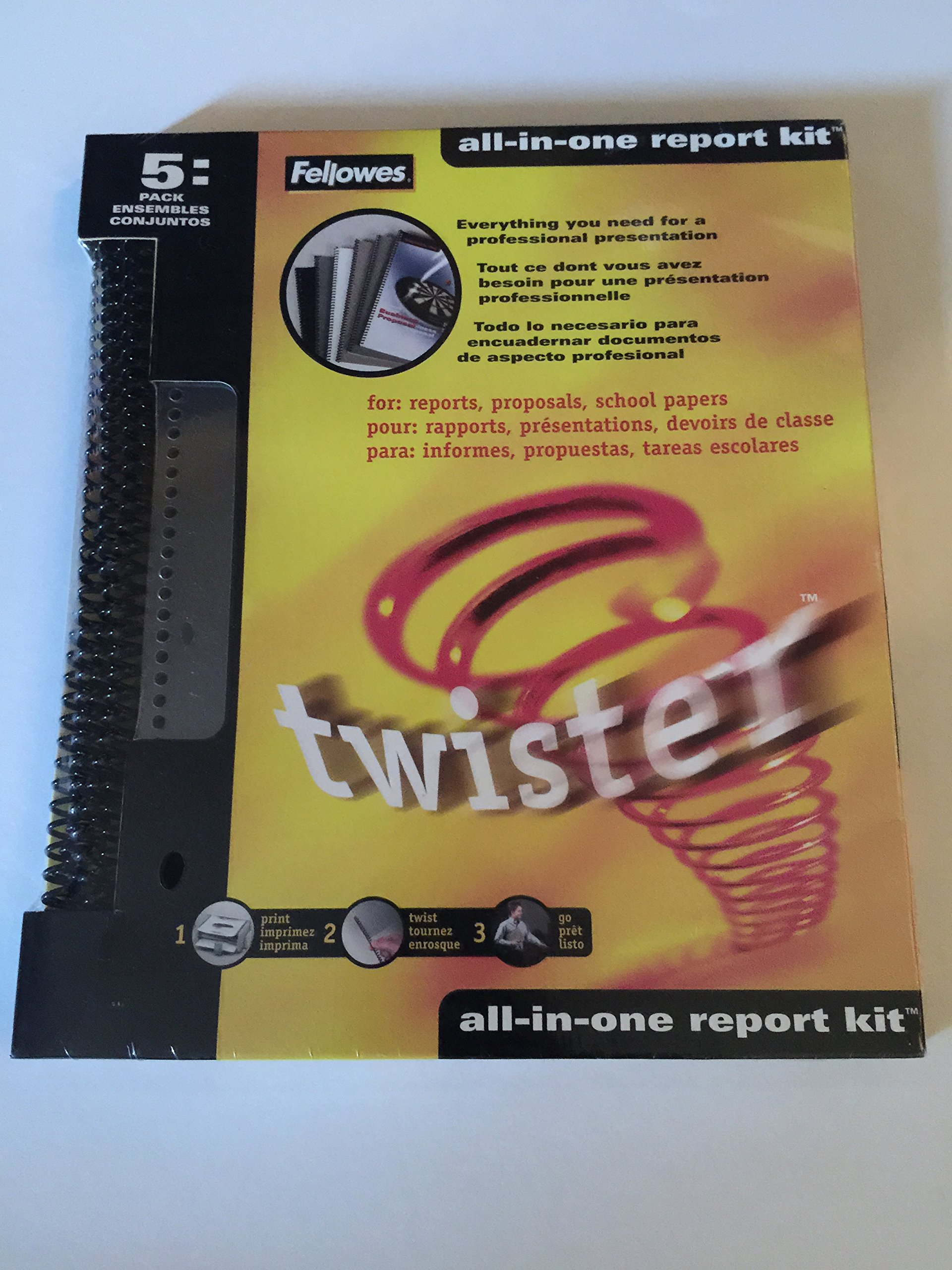 Fellowes Twister All-in-one Report Cover Blue 5 in Package-52347