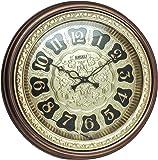 ANJALI Fiber Wall Clock (20 cm x 5 cm x 20 cm, Brown)