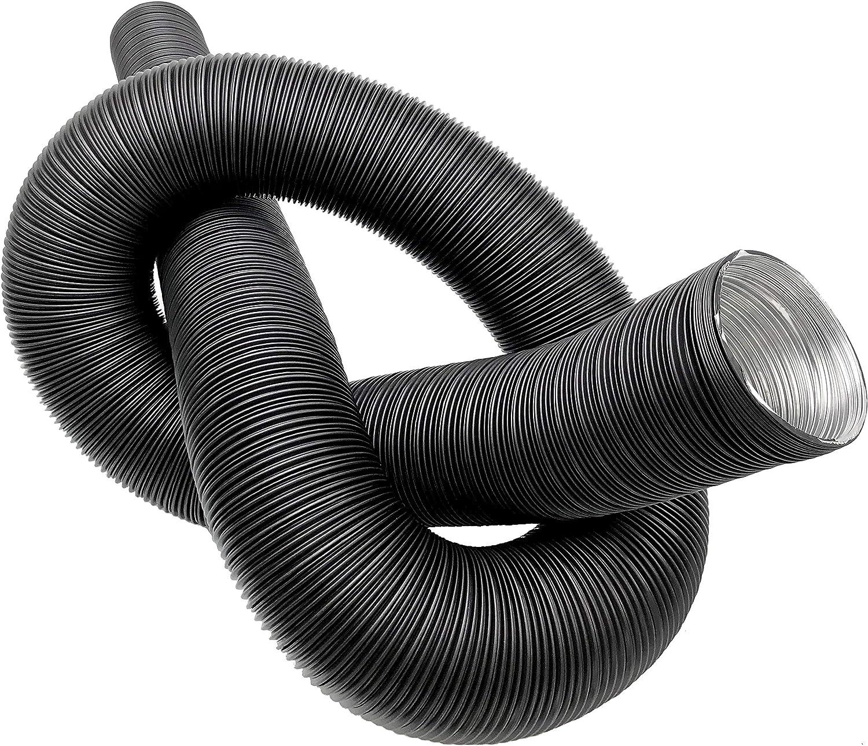 Intelmann Alu Flexrohr schwarz lackiert L/änge 2,5m Aluminium, 80 mm 80 100 125 150 /Ø 80mm