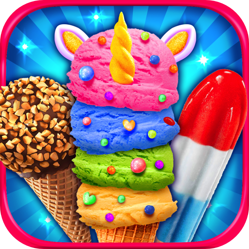 Rainbow Unicorn Ice Cream & Ice Popsicles - Kids Frozen Dessert Food Maker Games FREE