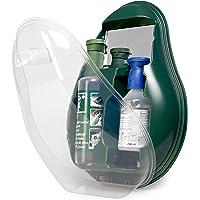MedX5 Notfall Augendusche, Augenspülung mit steriler Kochsalzlösung (0.9%) und BioPhos74 Pufferlösung, Augenspülstation mit Spiegel, Augenspülmittel, Augenspüllösung, Augenspüler, Augenspülflasche