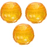 (3 Pack) Kong Company-Squeezz Crackle Ball- Assorted Medium