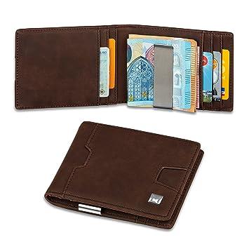 66e49385f9be8 MYLEDA Geldbeutel mit Geldklammer und Münzfach + RFID Schutz ...