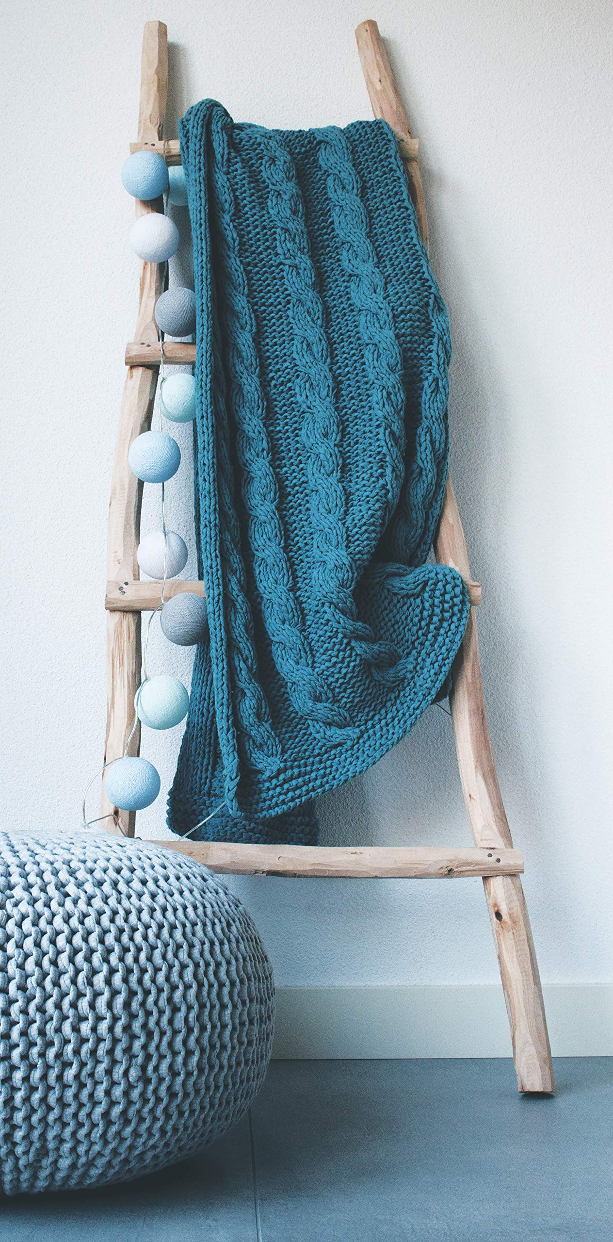Hoooked Knit & Crochet Pouf Kit W/Zpagetti Yarn-Cherry Blossom