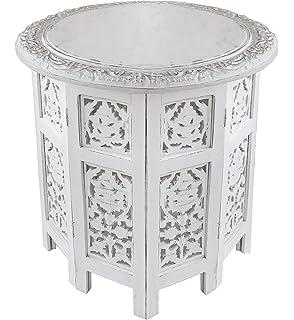 Amazoncom Moroccan Wood Side End Table Corner Coffee Handmade Hand