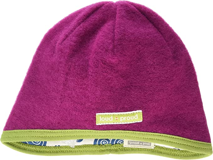loud proud Unisex Kinder Wendem/ütze Fleece Beanie-M/ütze
