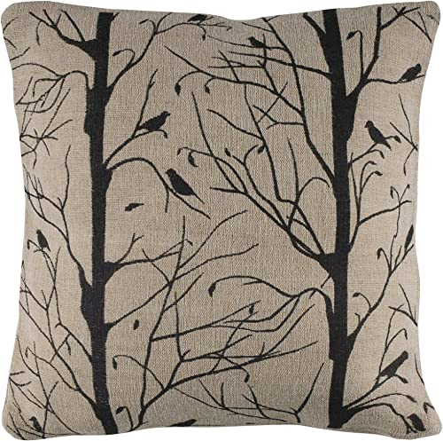 Rizzy Home T03956 Decorative Pillow, 18 X18 , Beige