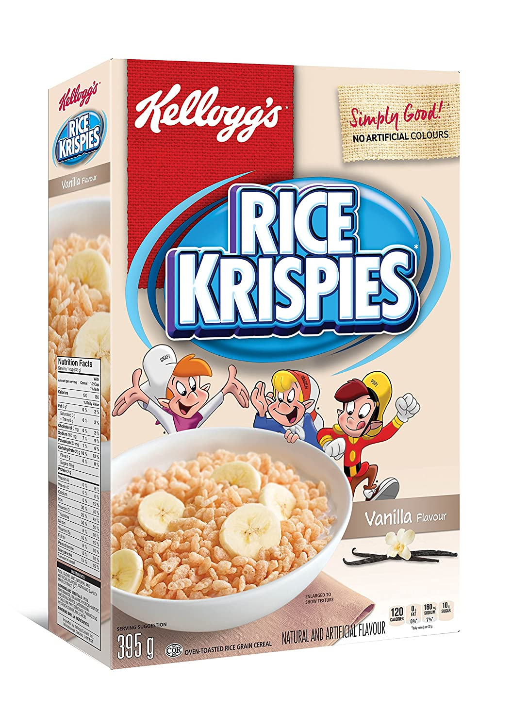 Kellogg's Rice Krispies Vanilla Flavour Cereal 395g/13 93oz {Imported from  Canada}
