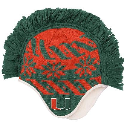 Buy adidas NCAA Miami Hurricanes Men s Mohawk Knit Beanie e6340d4f298