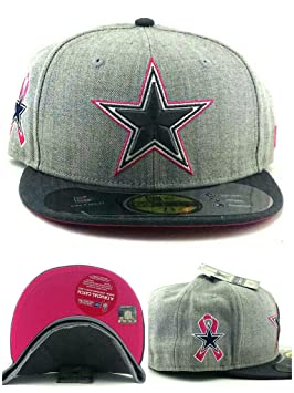 bc975953c Dallas Cowboys New Era 59Fifty Breast Cancer Awareness Pink Gray Fitted Hat  Cap 7 3/8, Baseball Caps - Amazon Canada