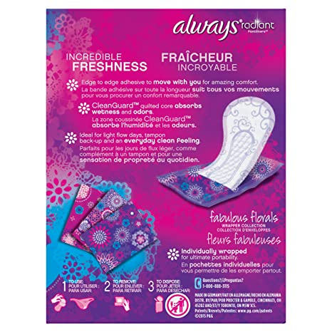 Amazon.com: Always Always Radiant Liners, 48 Count: Health & Personal Care