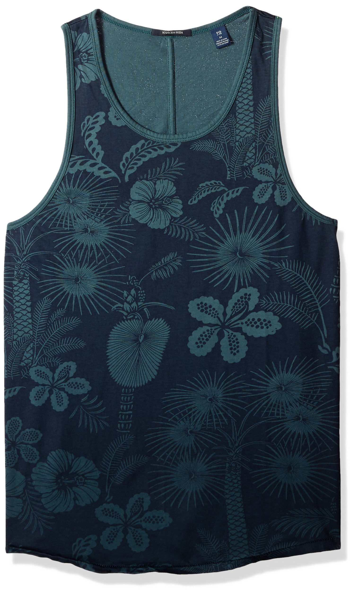 Scotch & Soda Men's Summer Singlet with Print, Combo b, M