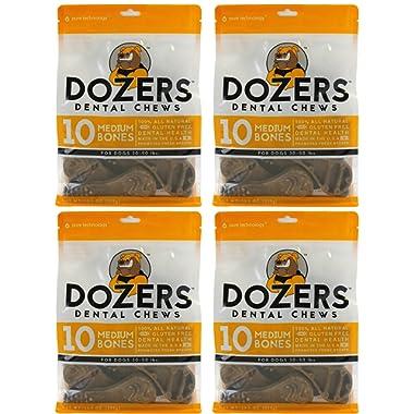 Dozers Dental Dog Chews - 100% All Natural Ingredients - Gluten Free Dental Healthy Delicious Dog Treat - Promotes Fresh Breath