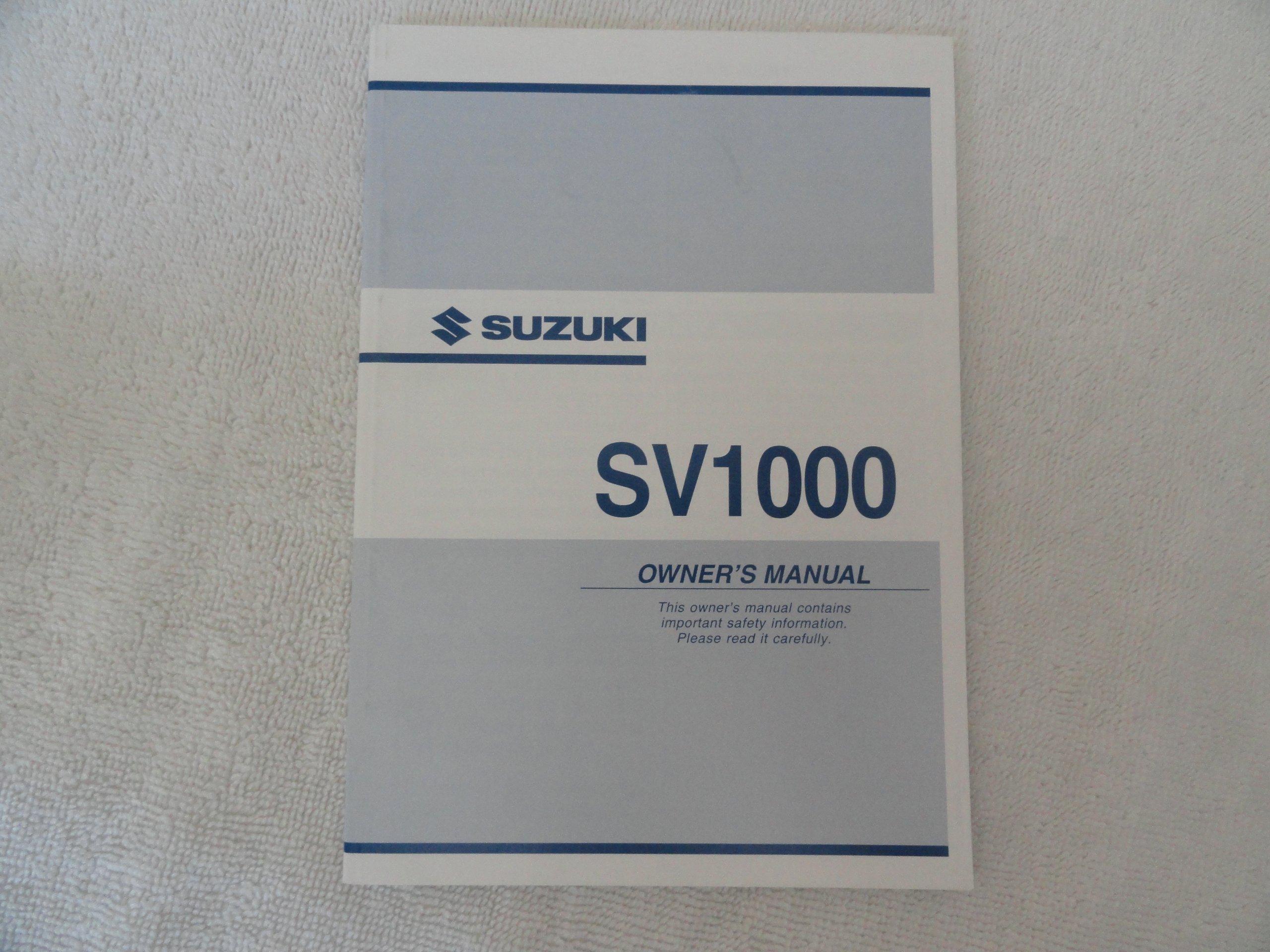2003 2004 suzuki sv1000 owners manual suzuki amazon com books rh amazon com SV1000 Full Fairing suzuki sv1000 owners manual