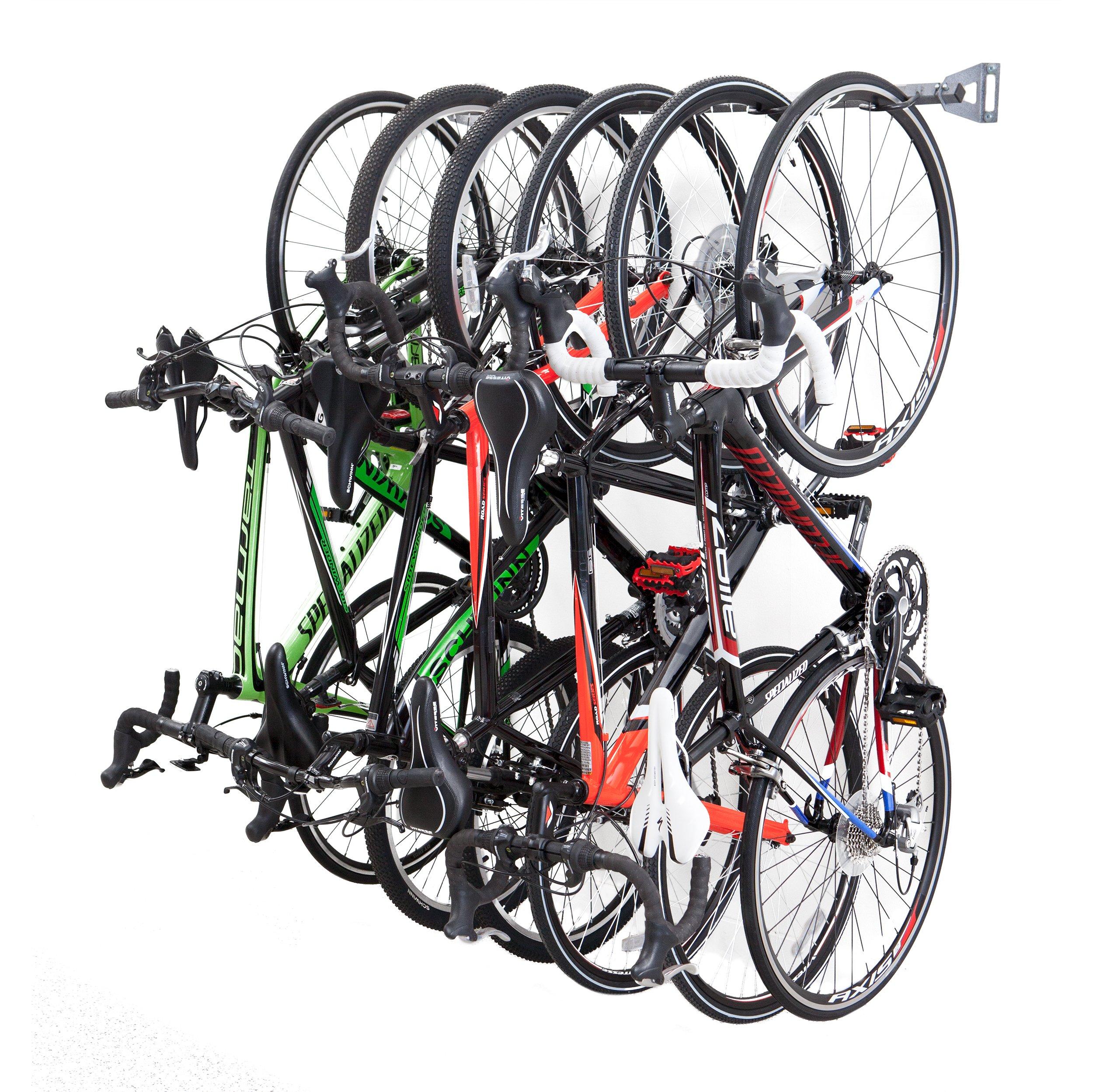 Bike Storage Racks - Store Up To 6 Bikes - 200lb Weight Capacity by Monkey Bars