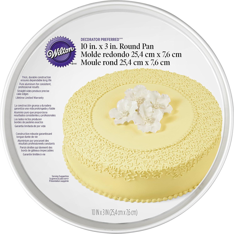 Wilton Aluminum Round Cake Pan 10 x 3 Inch