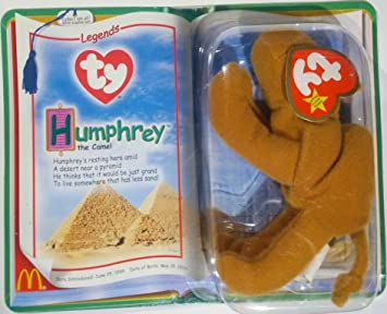 McDonalds Collectible TY Beanie Babies Humphrey the Camel Legends Stuffed Animal Plush Toy - Light Brown
