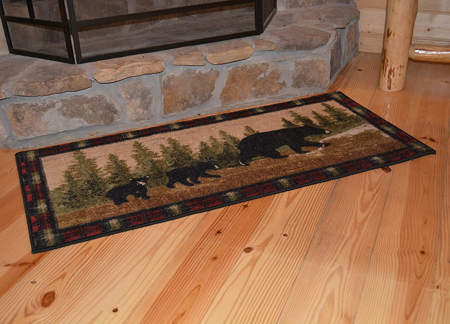 Cozy Cabin Kitchen Rug 19x31 Wedge Tall Rooster Wholesale Rug Source CC5266
