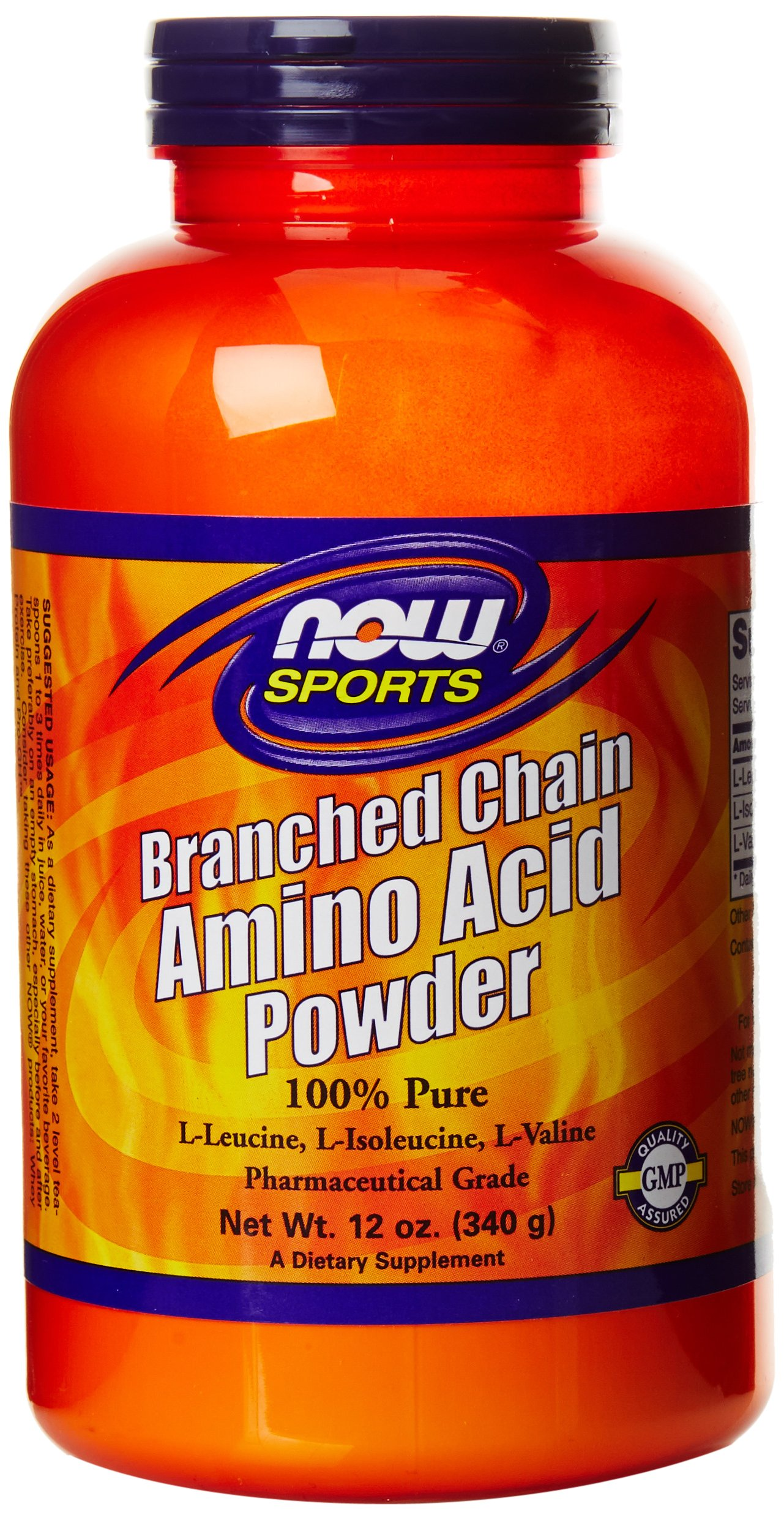 NOW Sports Branched Chain Amino Acid Powder, 12-Ounce