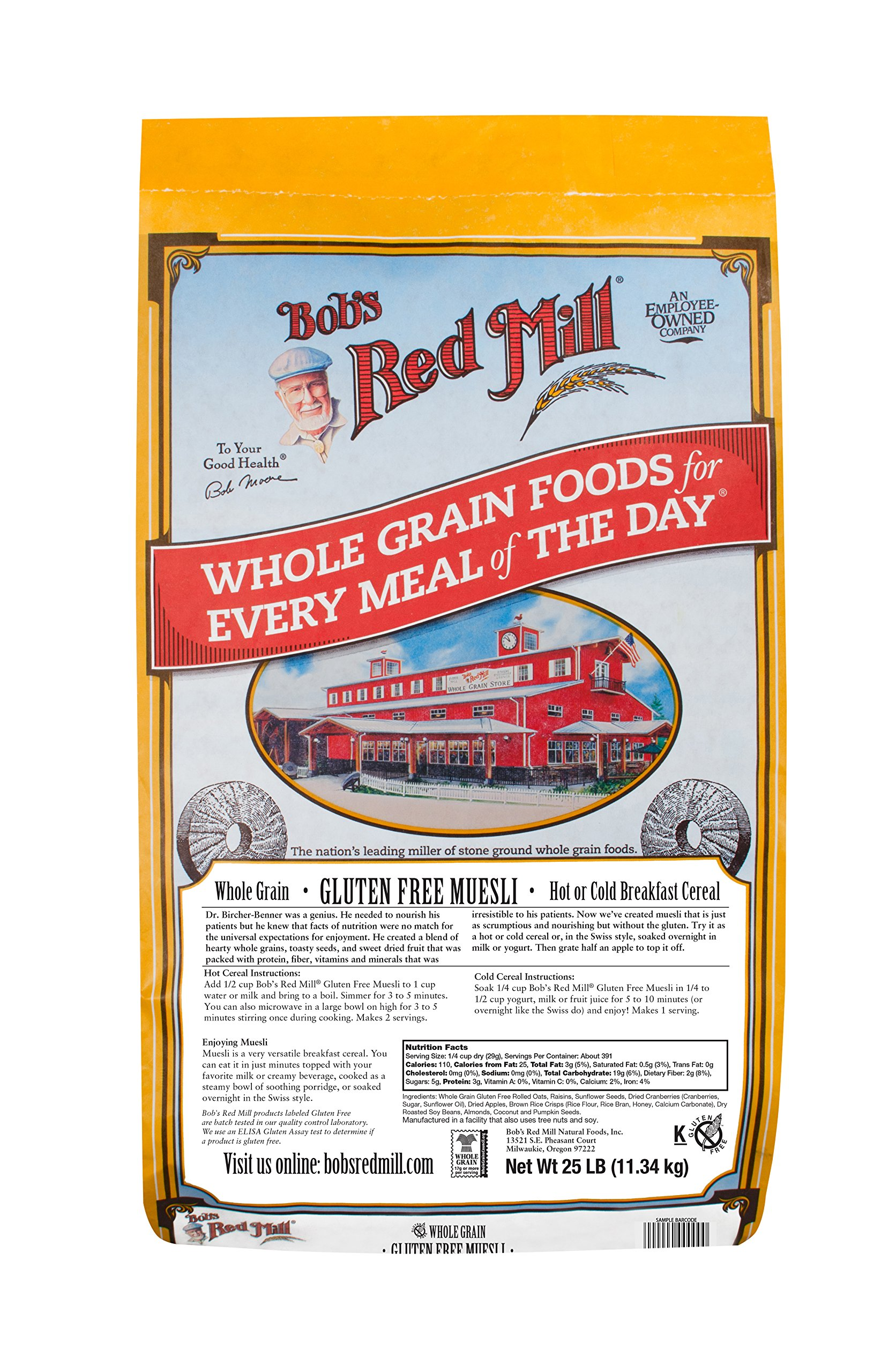 Bob's Red Mill Gluten Free Muesli Cereal, 25 Pound by Bob's Red Mill
