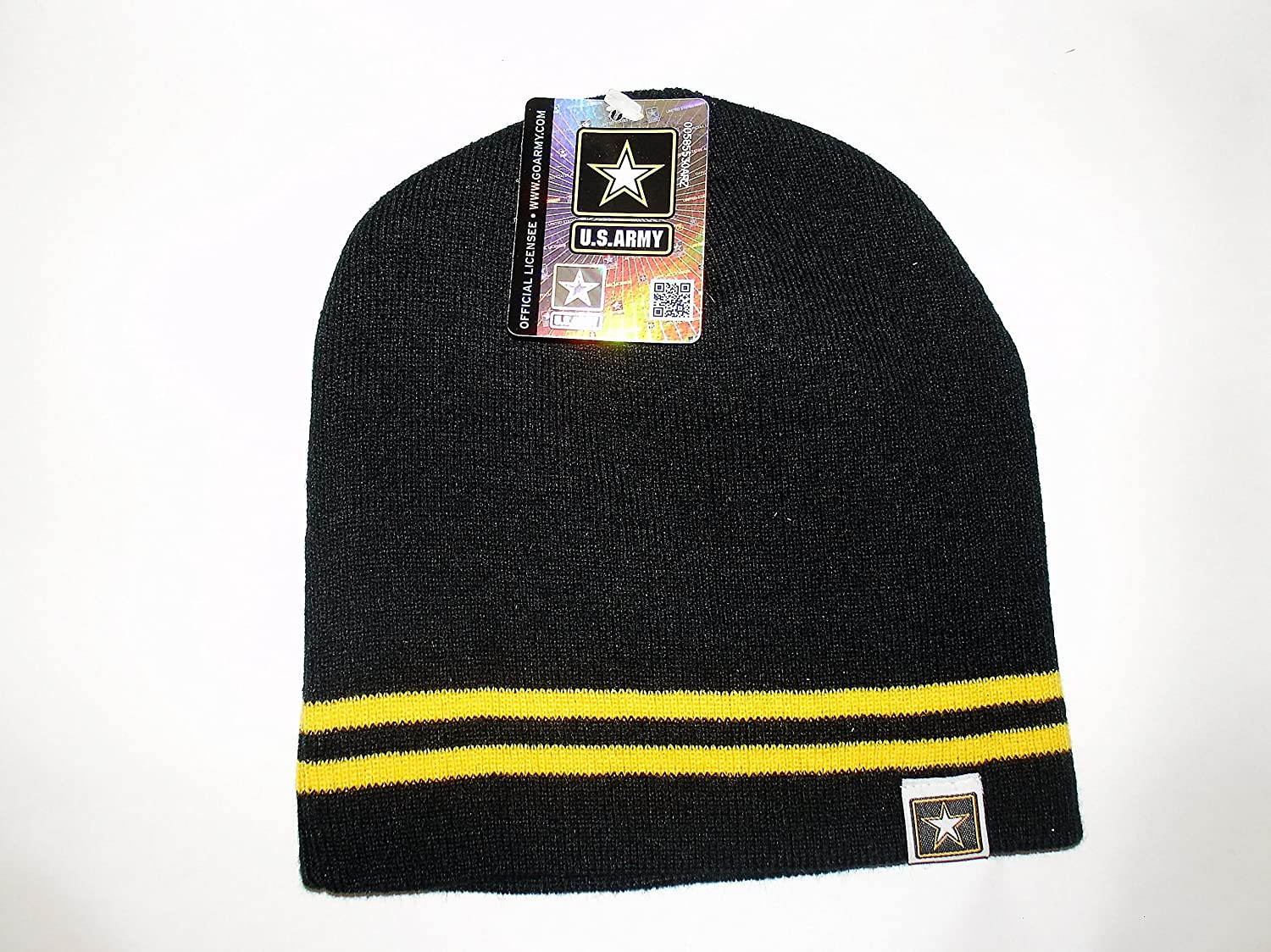 156f029f605 Amazon.com  Offically Licensed US USA Army Tag Logo Watch Cap Stocking Hat  Military  Sports   Outdoors