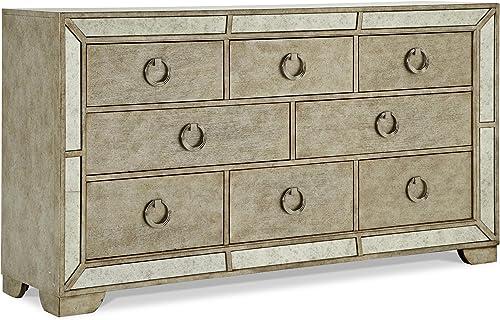 Pulaski Farrah 8 Drawer Dresser in Gold