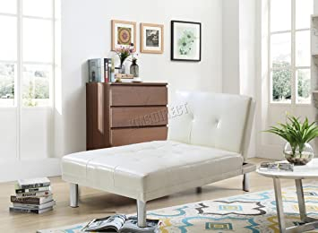 Superb Westwood Modern Luxury Chaise Longue Single Sofa Bed 1 Seater Couch Small Guest Sleeper Convertible Chair Faux Leather Living Room Furniture Psb03 Evergreenethics Interior Chair Design Evergreenethicsorg