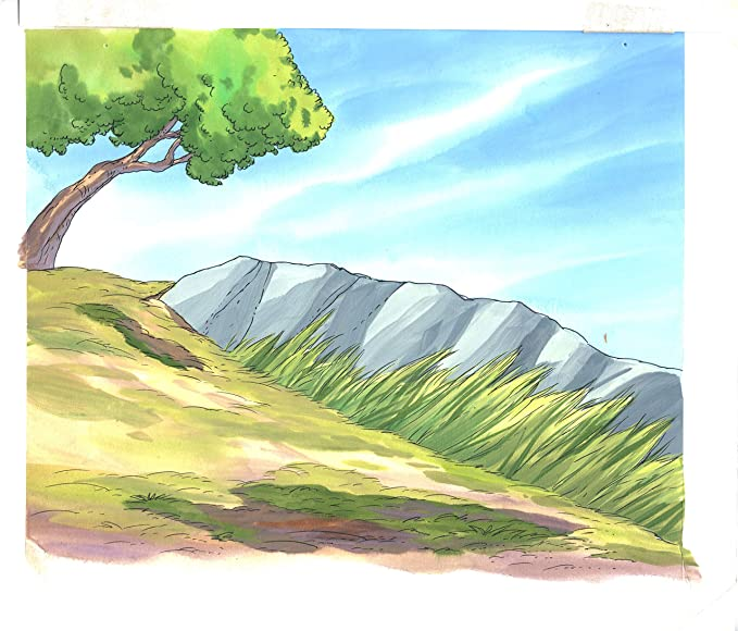The Lion King Ii Storybook Hand Painted Background Illustration Africa 1990 S B1 At Amazon S Entertainment Collectibles Store