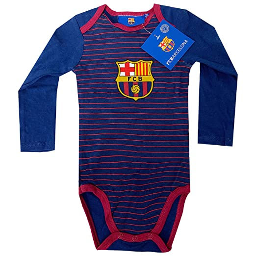 17e7d1125 Amazon.com  Fc Barcelona Onesie Baby Cotton Soccer Bodysuits Infant ...