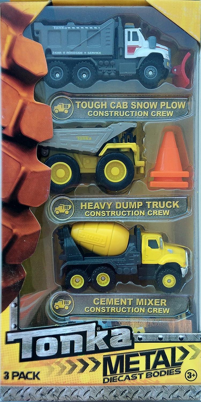TONKA METAL DIE CAST BODIES TOUGH CAB SNOW PLOW CONSTRUCTION CREW!
