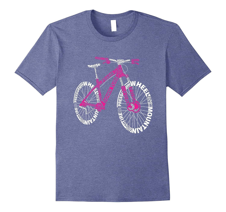 Bicycle Amazing Anatomy Mountain Bike T-Shirt-ANZ - Anztshirt