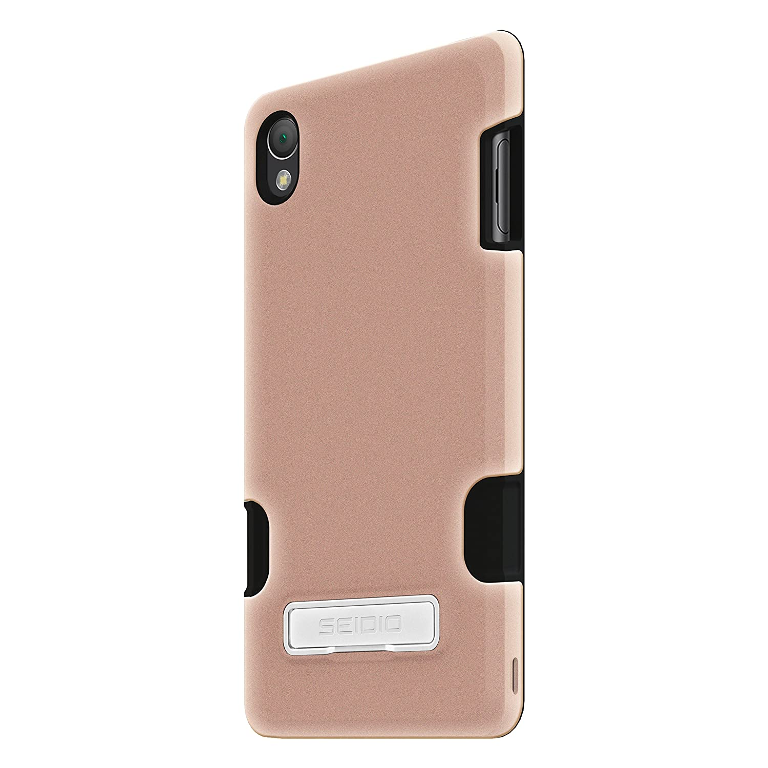 new style b4014 6c312 Seidio DILEX Pro with Metal Kickstand Case for Sony Xperia Z3-Rose Gold