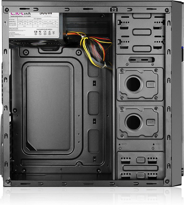 L-link Cygnus - Caja ATX-Micro (USB 3.0) con Fuente 500 W, Color ...
