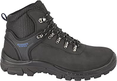 Mens Steel Toe Work Boots Site Work Construction Grip Sole Ankle Shoes Size PPE